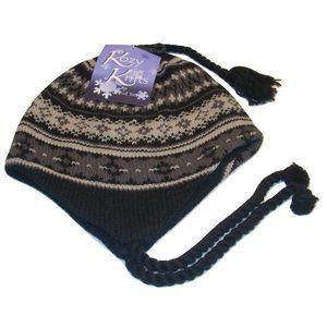 NWT Fair Isle Wool Blend Fleece-Lined Knit Hat